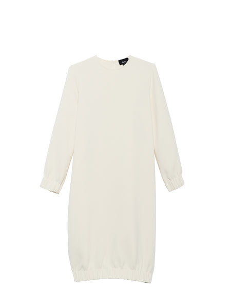 Beth - Bridge Dress / White Crepe
