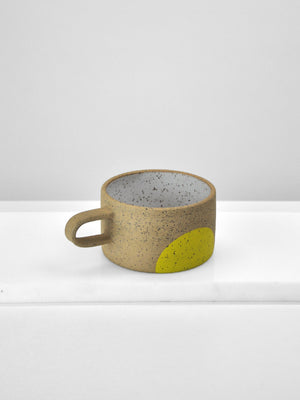Mimi Ceramics - Short Speckle Mug / Yellow