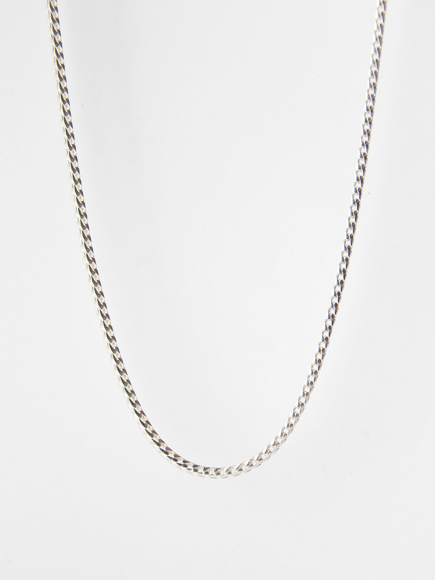 "Franco Chain Necklace / 18 - 24""/ Sterling Silver"