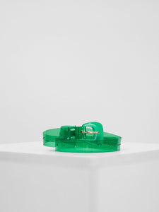 Petit Moments - Lucite Belt / Emerald