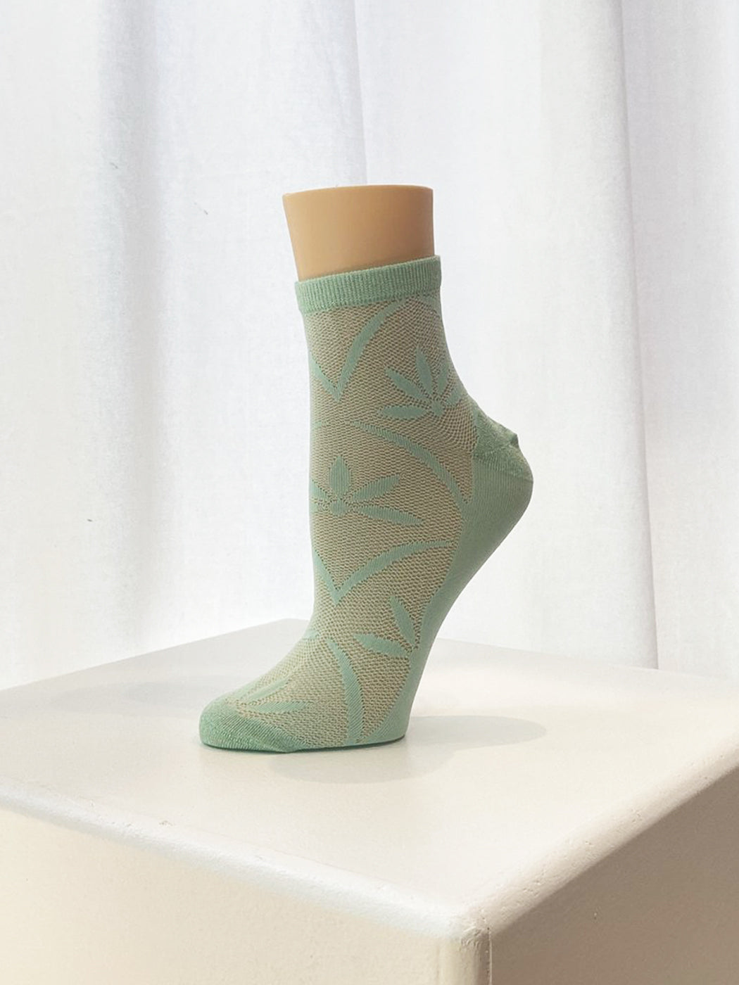 Fun Socks - Flower Anklet / Spring Green