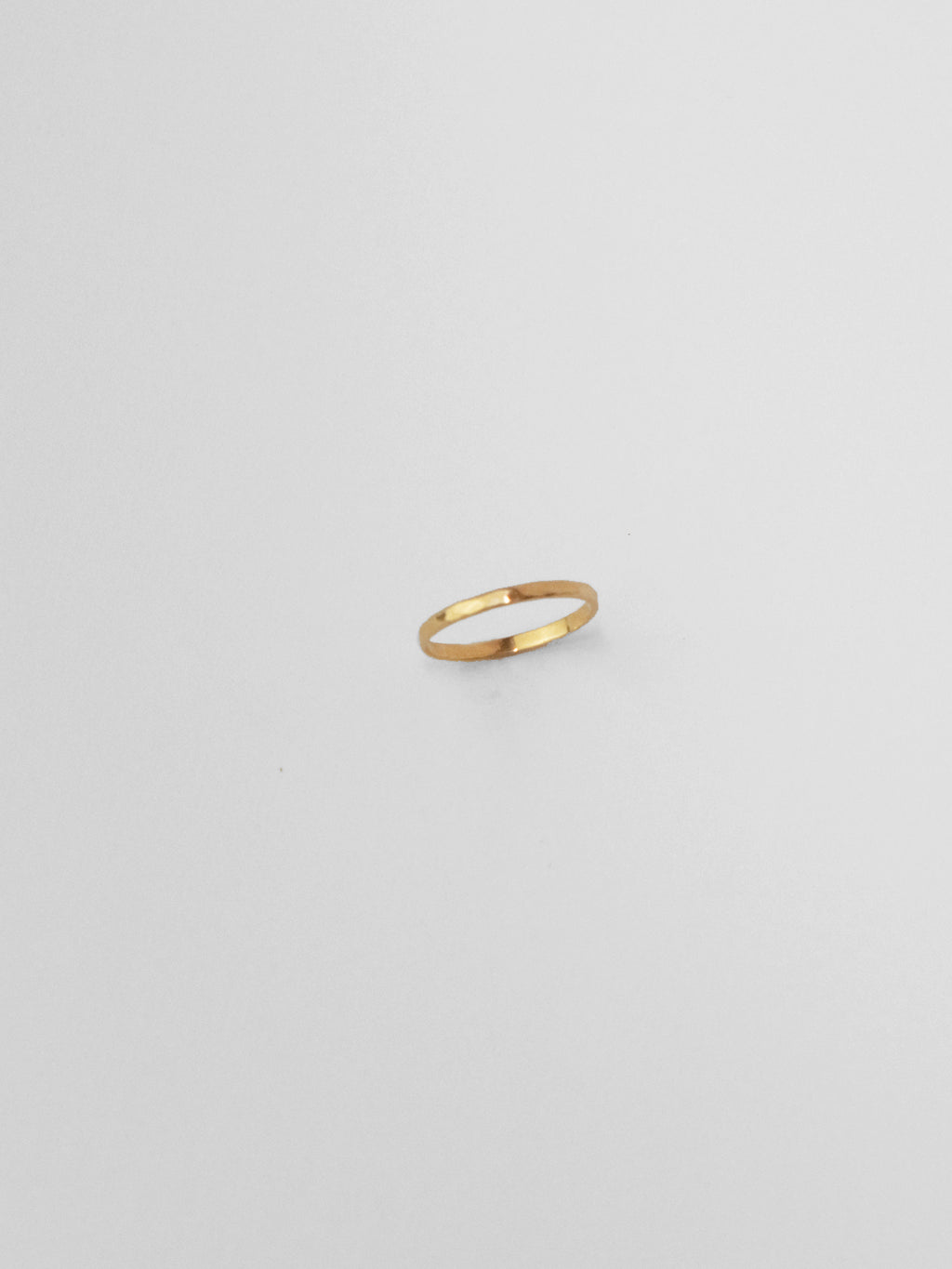 Narrow Commitment Band / 14kt Yellow Gold / Hammered