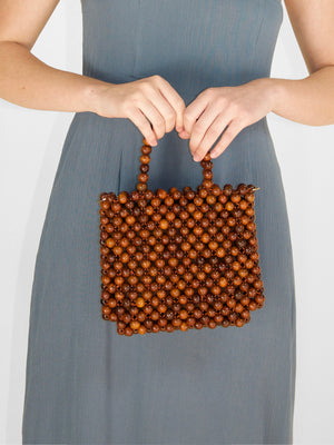 Hobby Bead Tote / Brown