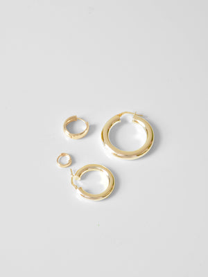 Gerald Tube Hoops / 20mm / 14k Yellow Gold