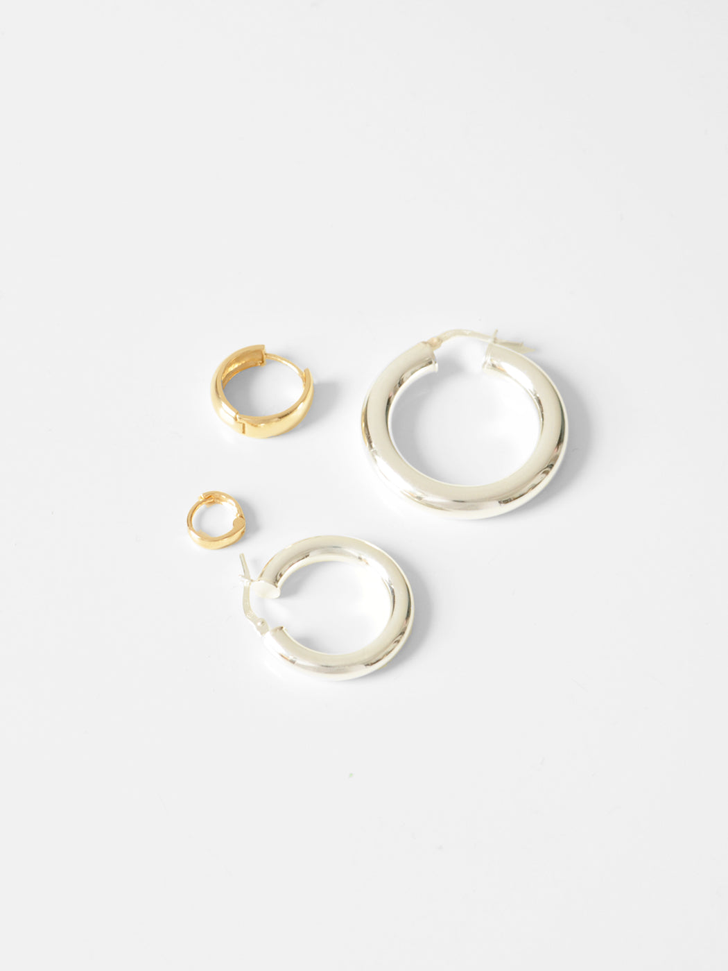 Gerald Tube Hoops / 32mm / Sterling Silver