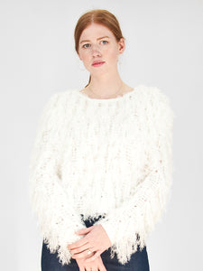 Hugs - Eyelash Sweater / Ivory