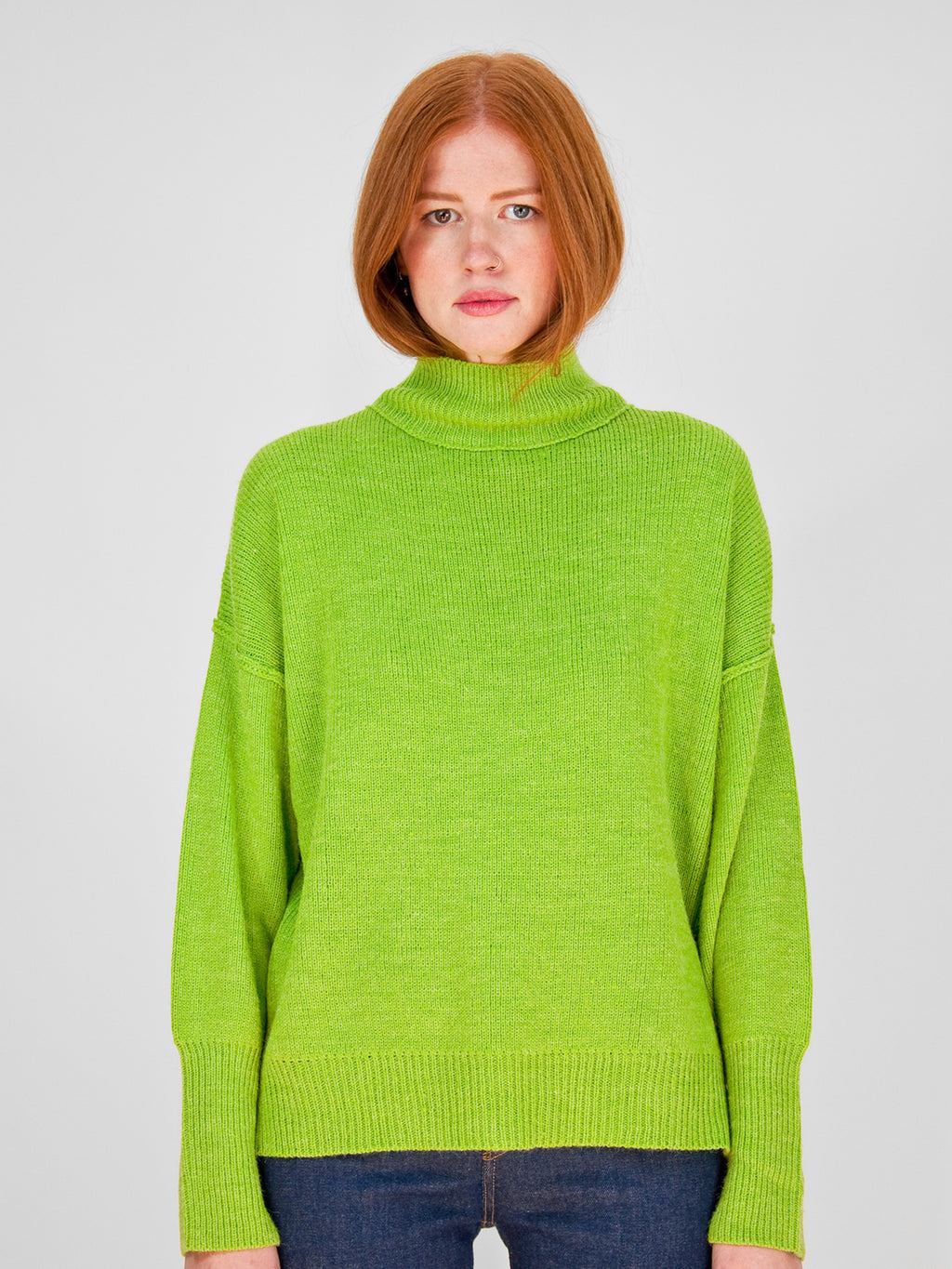Hugs - Mock Neck Sweater / Spring Moss
