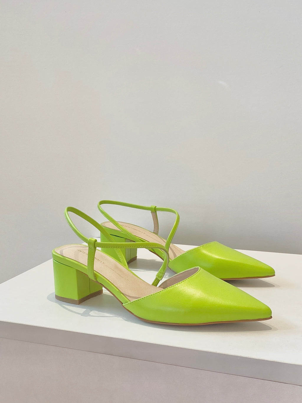 Intentionally Blank - Viv Slingback Pump / Lime