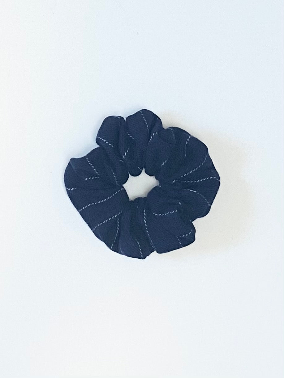 IGWT - Scrunchie / Navy Wool Pinstripe