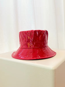 Patent Bucket Hat / Red