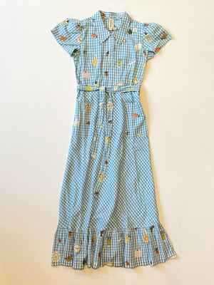 Samantha Pleet - Picnic Dress / Blue Gingham