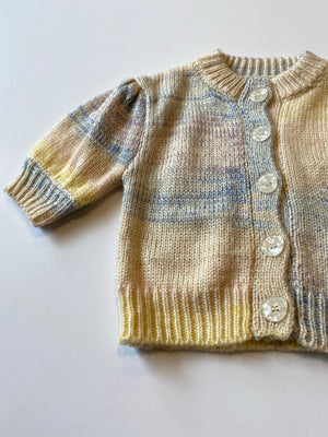 Ombre Balloon Cardigan / Watercolor