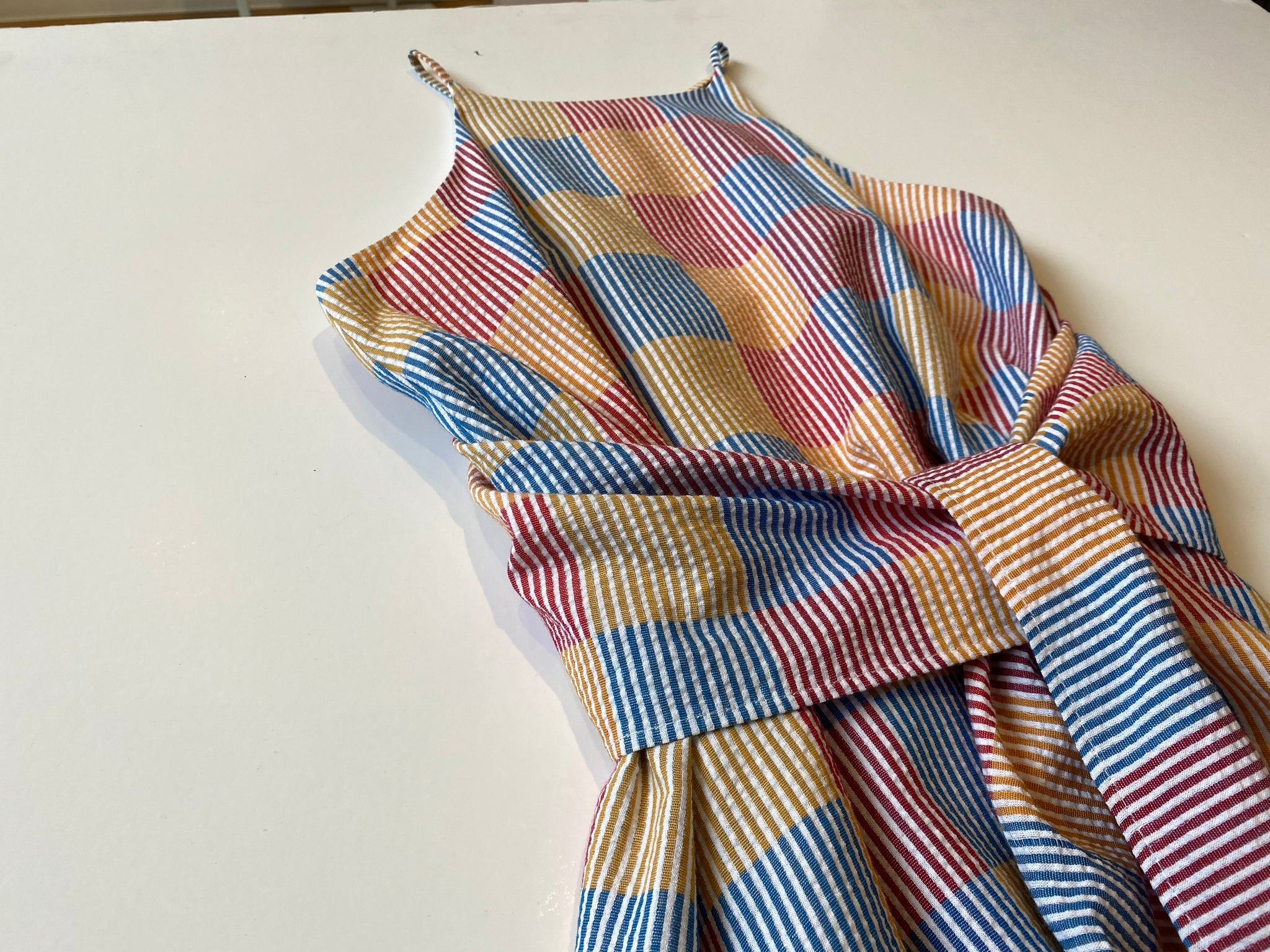 Corey Lynn Calter - Matilda Dress / Checkered Seersucker