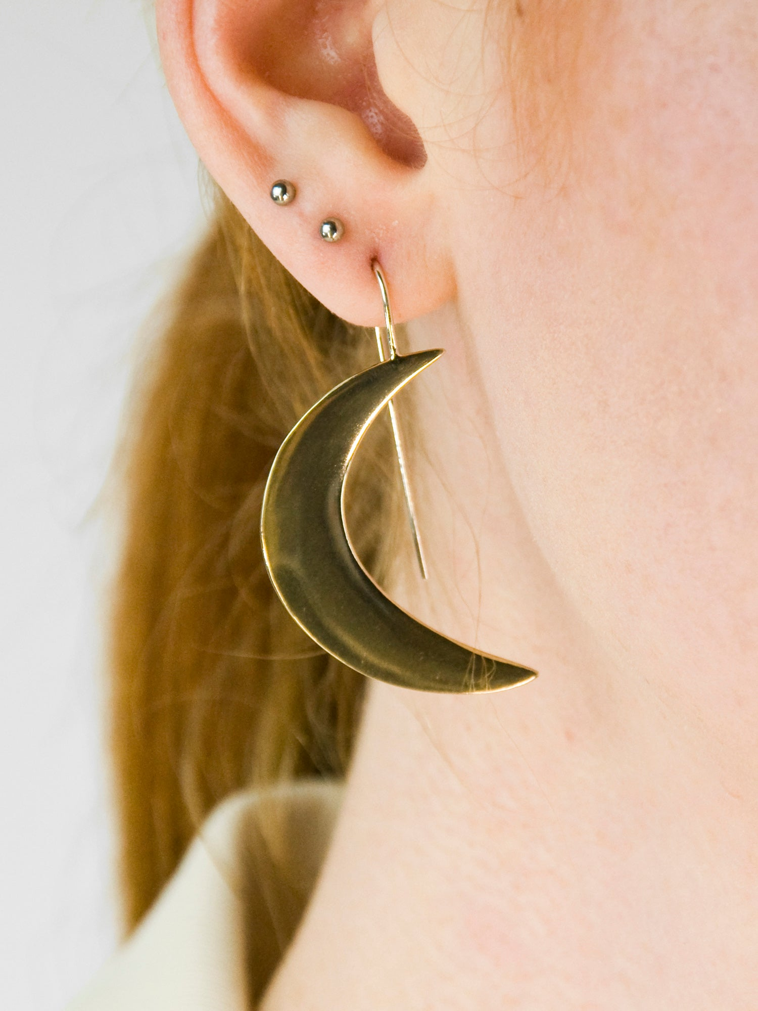 Inspiral Earrings / Brass & Silver