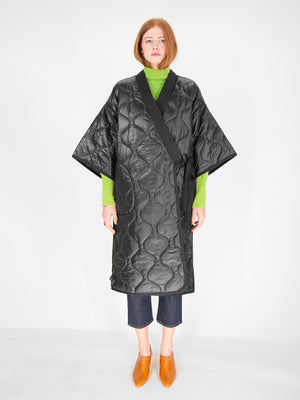 Intentionally Blank - OFTEN Puffer Kimono / Black