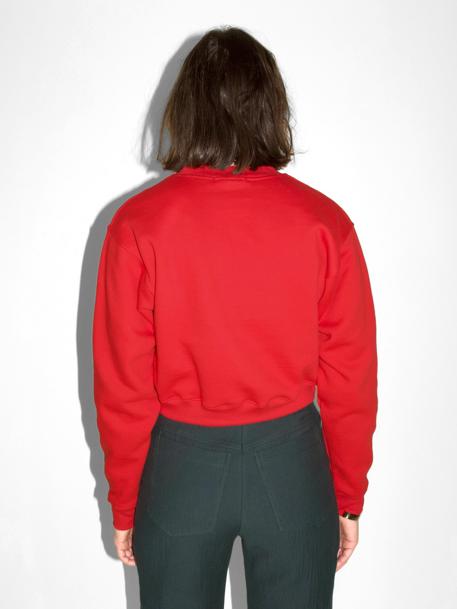 Joni Cropped Sweatshirt / Poppy