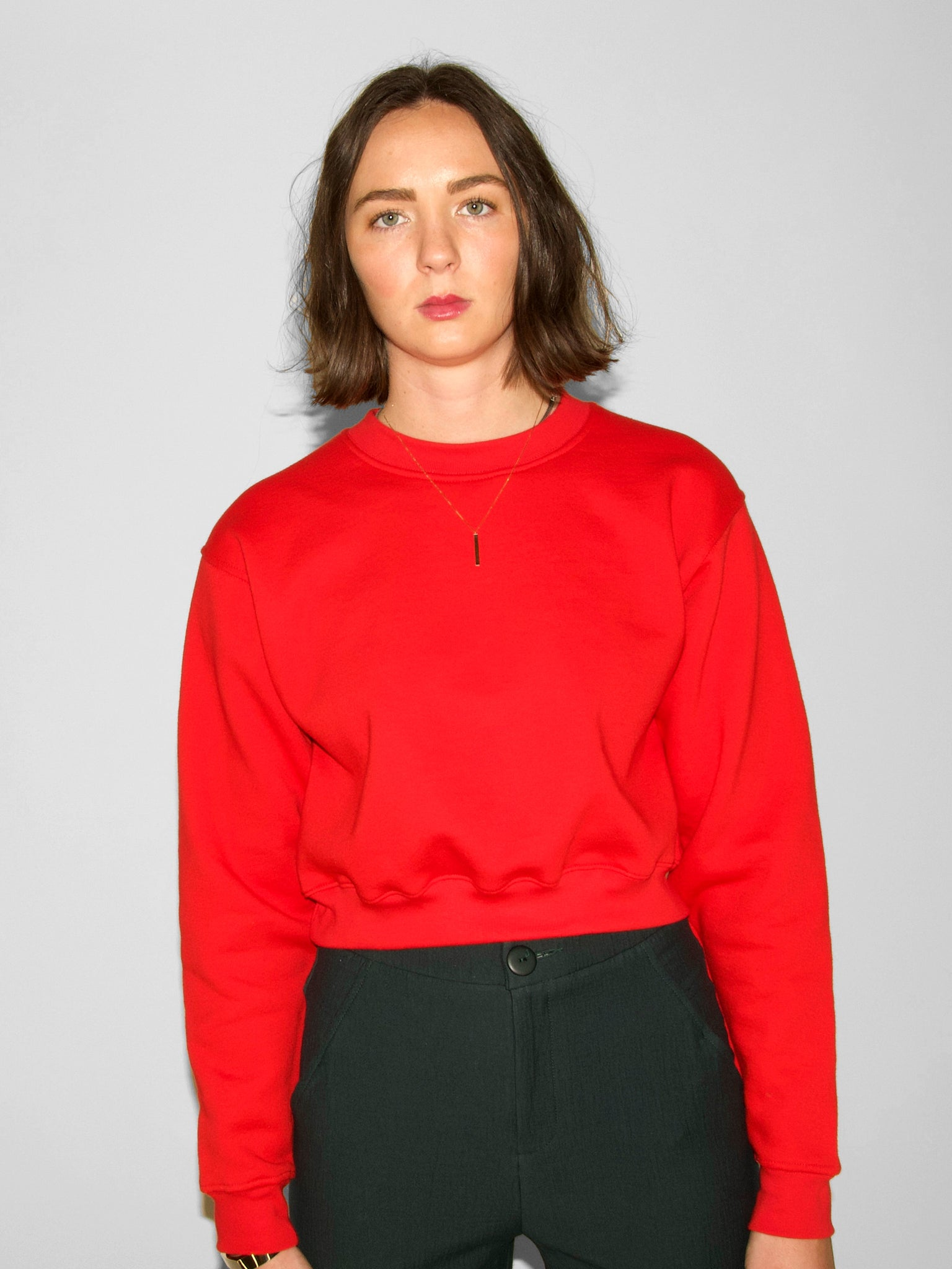 IGWT - Joni Cropped Sweatshirt / Poppy