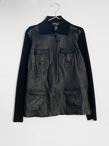 IGWT Vintage - Leather And Knit Jacket / Black