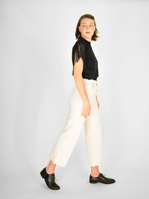 Lee - Cropped Wide Leg Jean / Ecru