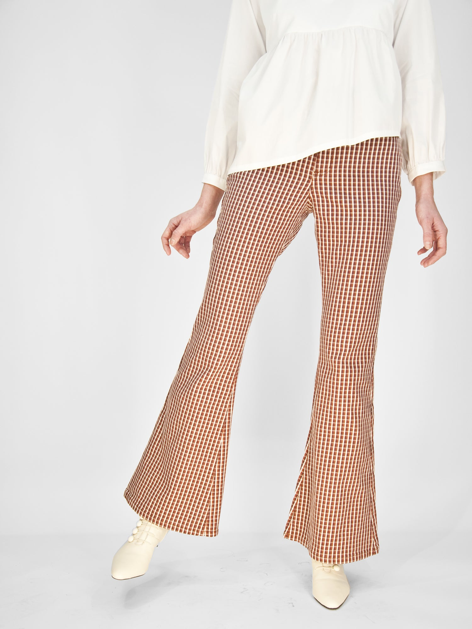 Lee - High Rise Flare / Vintage Houndstooth