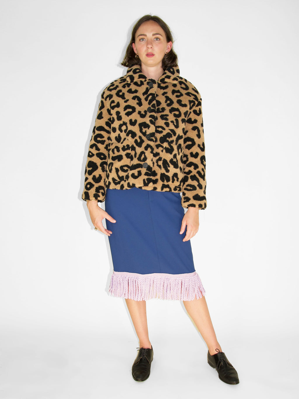 Apparis - Alexa Faux Shearling Coat / Leopard
