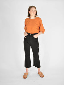 Levi's - Ribcage Cropped Flare Jeans / Black