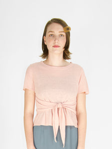 YES!!! - Linen Wrap Tee / Blush