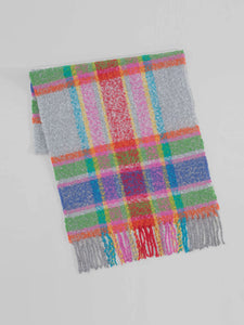 Echo - Lofty Check Oblong Scarf / Echo Silver