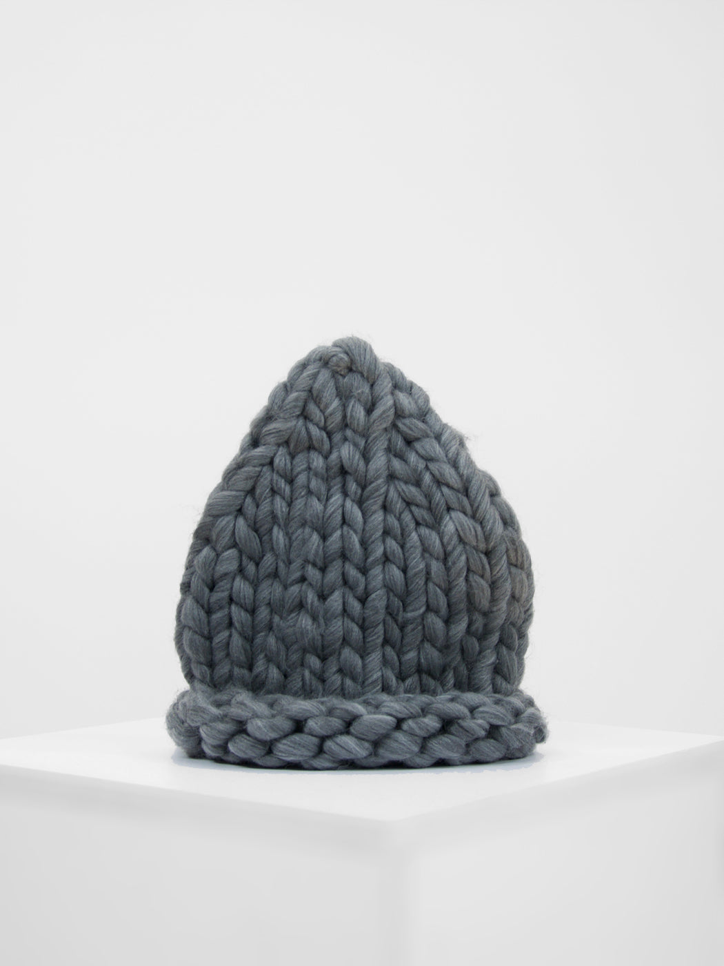 Loopy Knit Beanie / Slate Grey