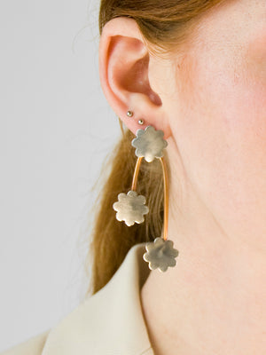 Loris Earrings / Sterling Silver & Bronze