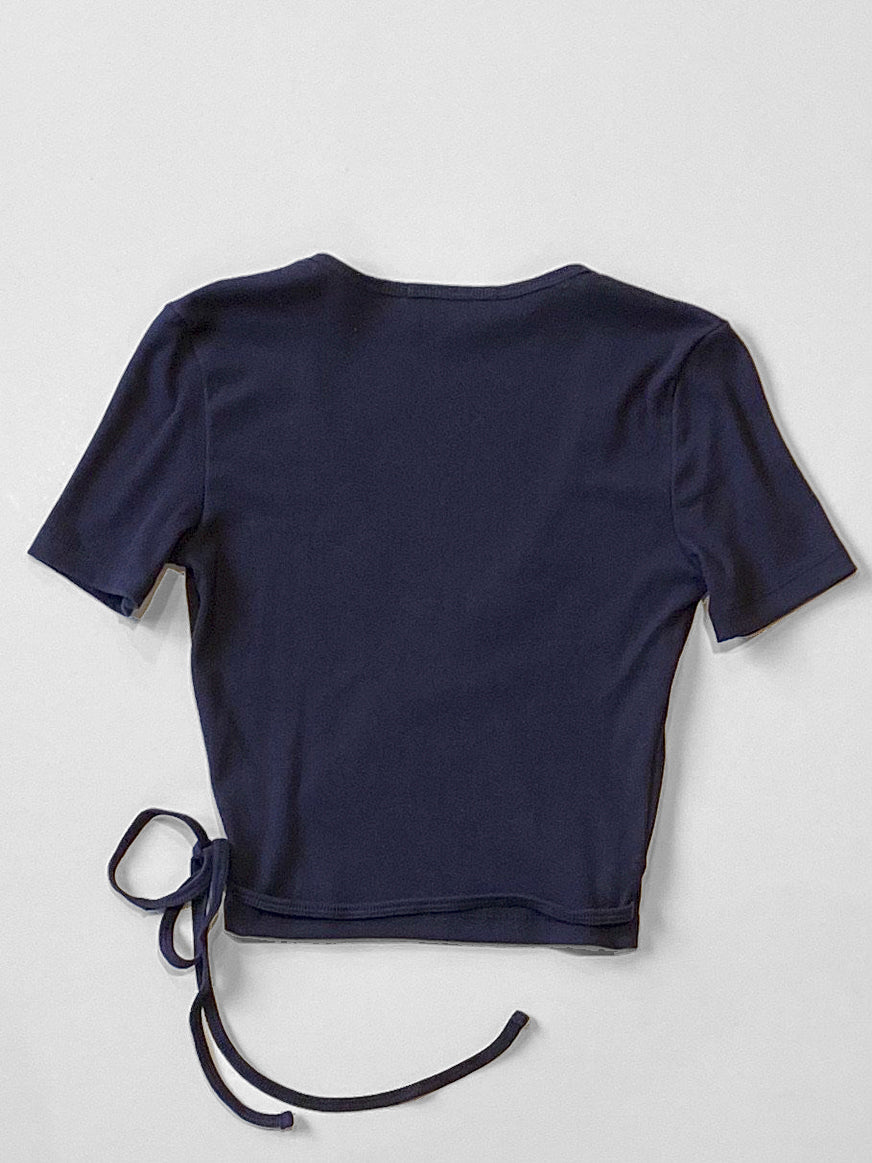 Lisa Says Gah - Lucille Wrap Top / Navy