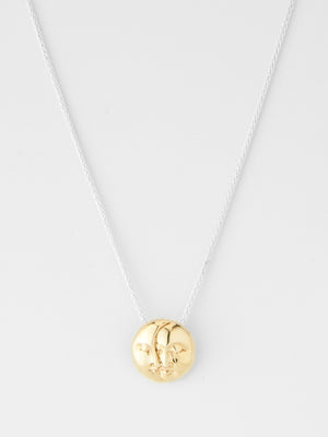 Mare Pendant Necklace / Silver & Brass