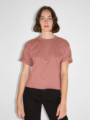 IGWT - Cropped Crew Tee / Mauve