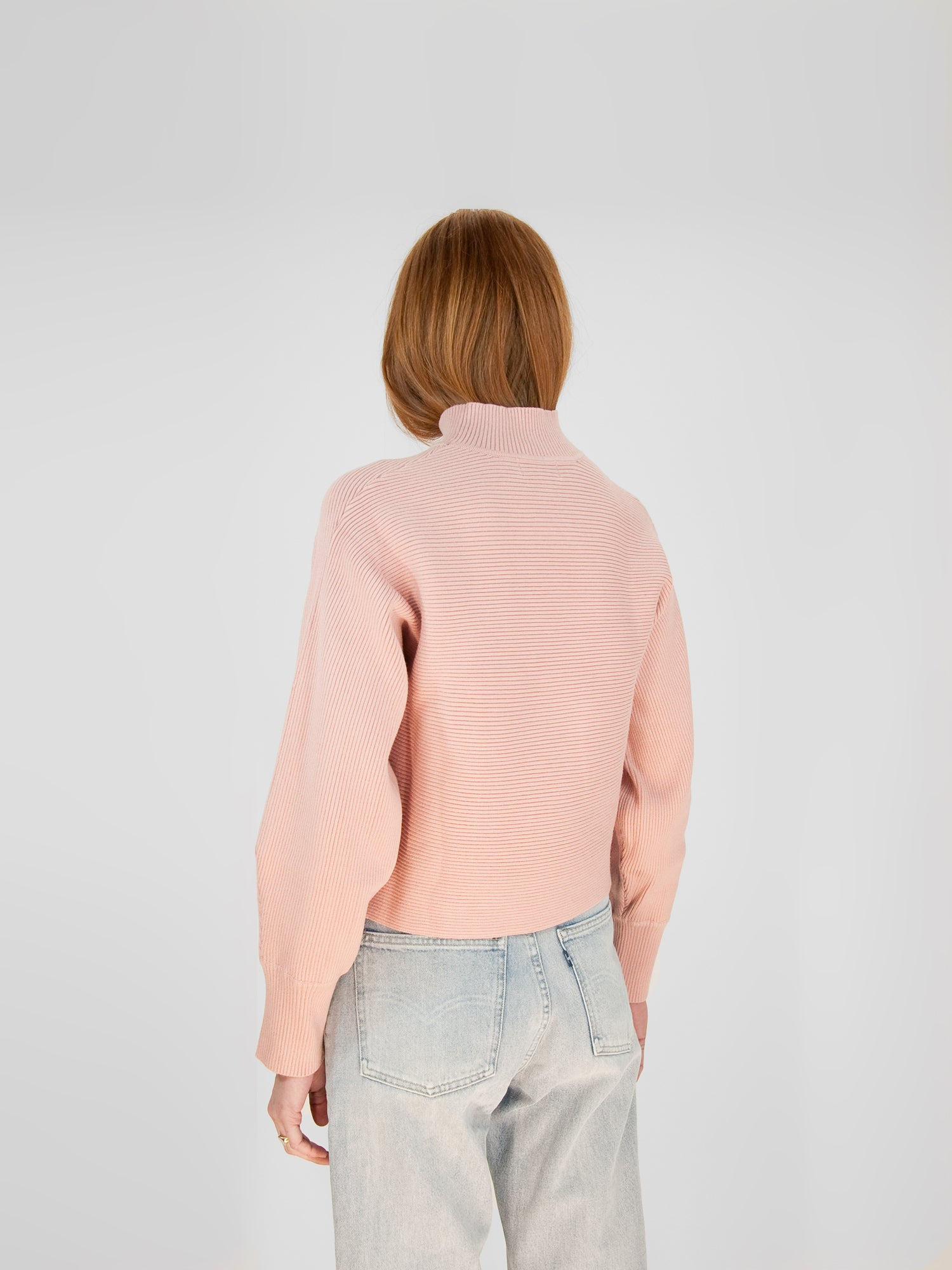 Mock Neck Sweater / Mauve