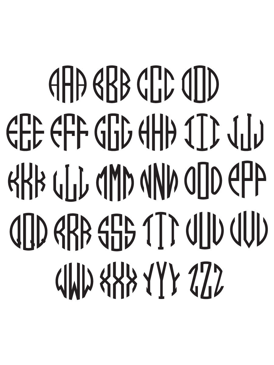 MONOGRAM Engraving / Per Area