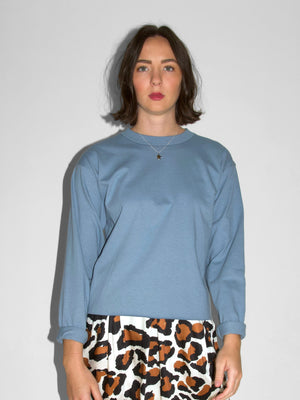 Long Sleeve Morrison Tee / Chambray Blue