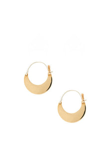 Mozi Hoop Earrings / Brass