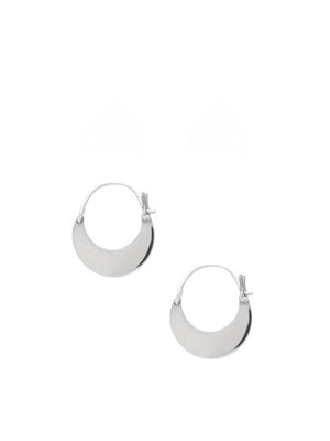 Mozi Hoop Earrings / Silver