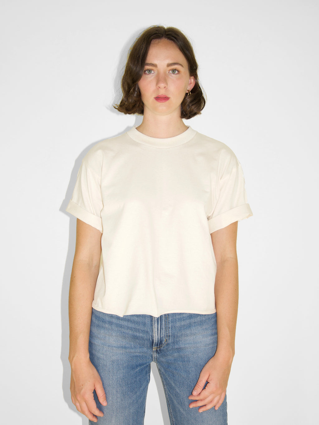 Cropped Crew Tee / Natural