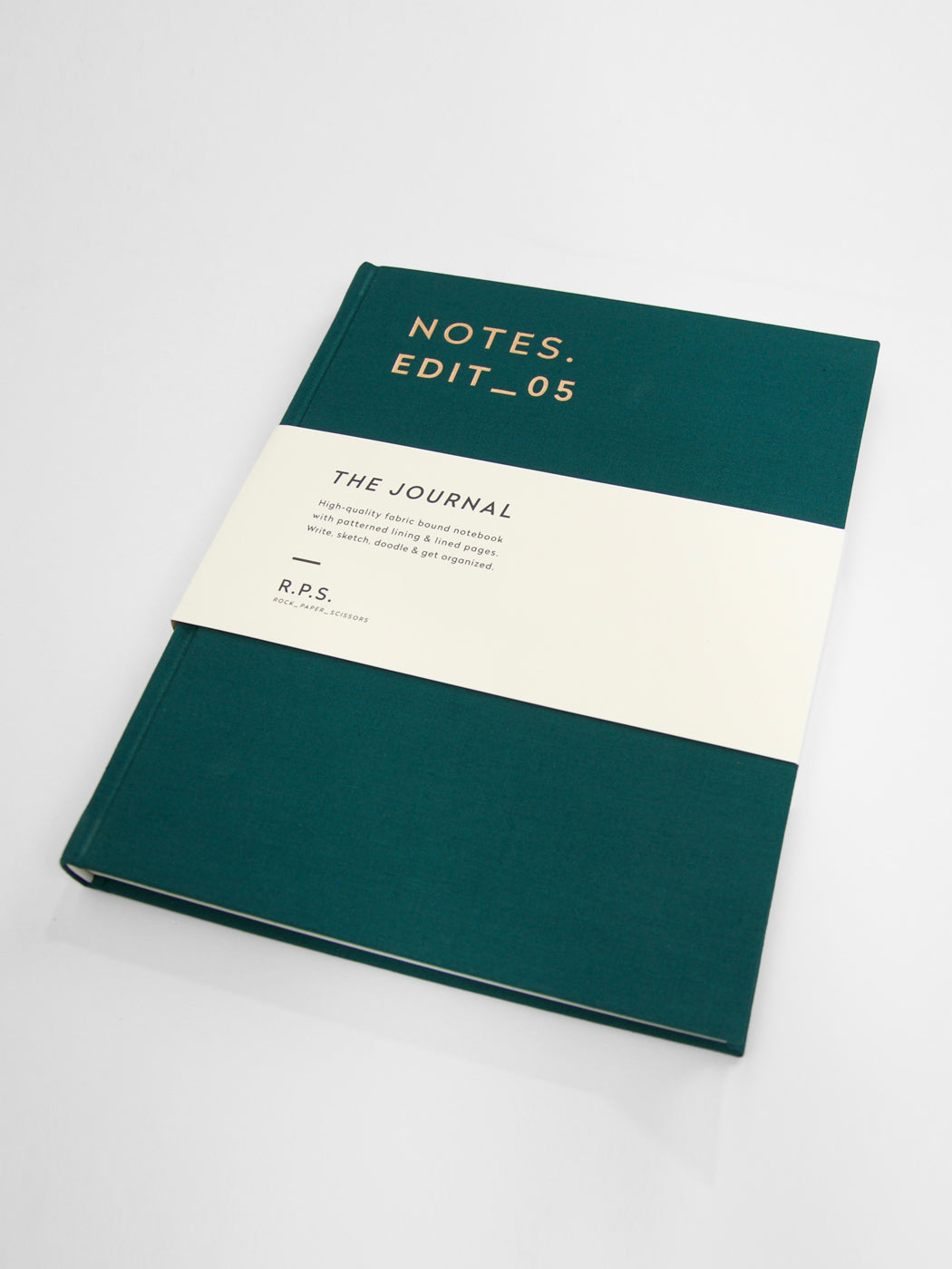 Darling Clementine - Canvas Covered Lined Notebook / Forest Green