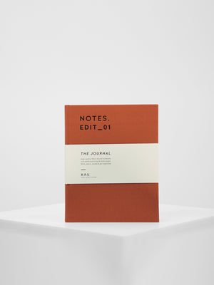Darling Clementine - Canvas Covered Notebook / Rust