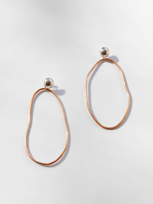 Olympia Earring / Sterling Silver & Bronze