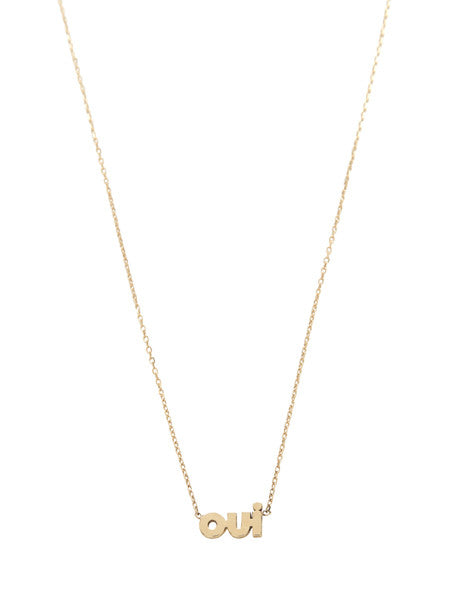 OUI Necklace / Gold