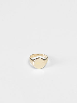 Ovo Signet Ring / Brass