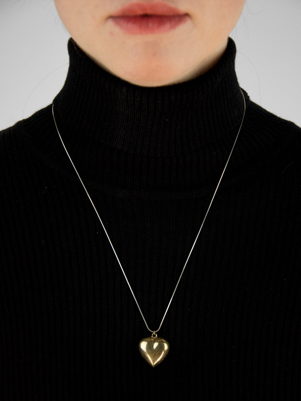 Paige Necklace / Silver & Brass