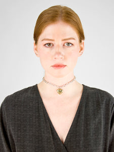 Paige Link Necklace / Silver & Brass