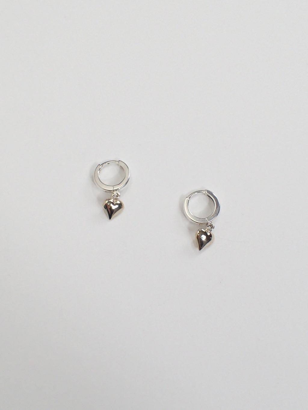 Petit Paige Hoop Earrings / Silver & Brass