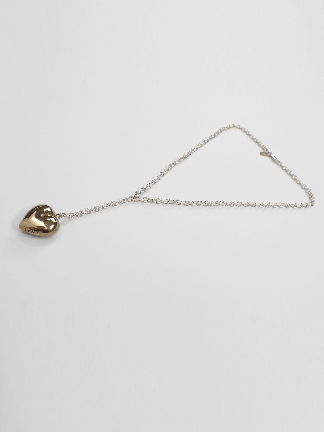 Paige Lariat Necklace / Silver & Brass