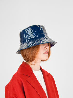Patent Bucket Hat / Navy