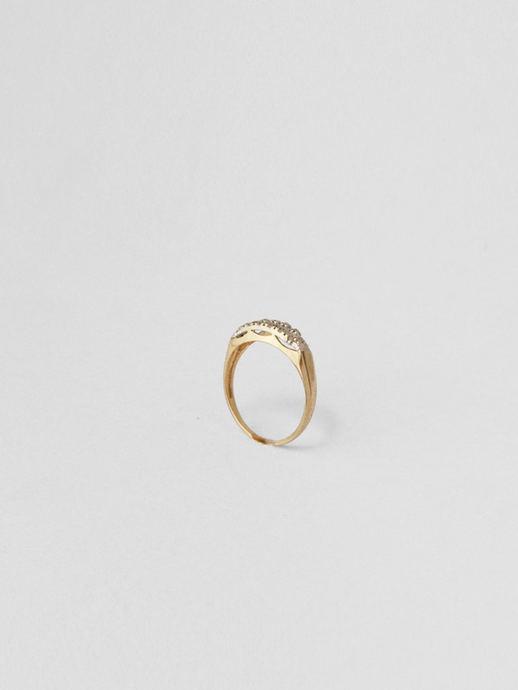 Petite Diamond Band / 14Kt Yellow Gold